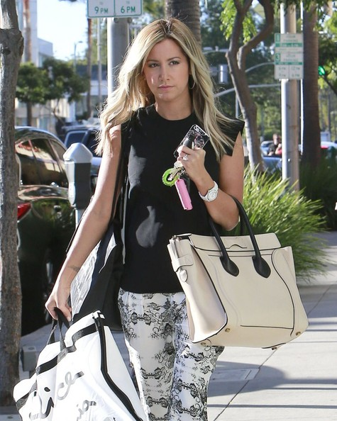 Ashley Tisdale Shops in Beverly Hills