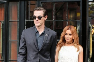 Ashley Tisdale Celebrities Gather Outside The Bowery Hotel