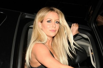 Aubrey O'Day Celebrities Enjoy a Night Out at Bootsy Bellows