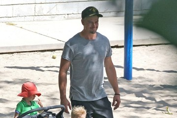 Axl Duhamel Josh Duhamel Playing With His Son in the Park