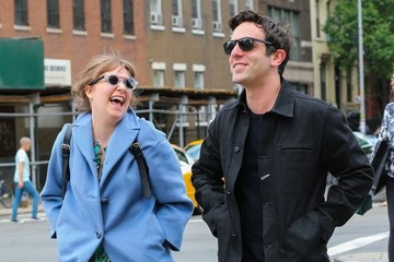 B.J. Novak Lena Dunham & B.J. Novak Out And About In New York