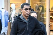 Babyface Shops With His Wife at The Grove