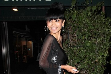 Bai Ling Celebs Get Dinner in Hollywood