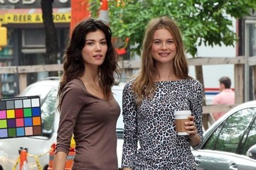 Behati Prinsloo Sheila Marquez Behati Prinsloo and Sheila Marquez Pose in NYC — Part 2