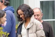 Actors Ben Affleck and Zoe Saldana are spotted in full costume filming scenes for 'Live By Night' in Los Angeles, California on December 11, 2016.