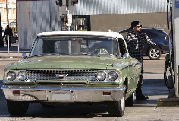 benji madden makes a pit stop in the galaxie celebrity