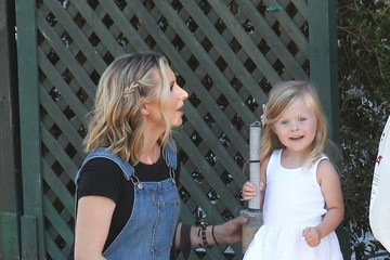 Beverley Mitchell Beverly Mitchell, Her Daughter, and a Friend Stop by Au Fudge in WeHo