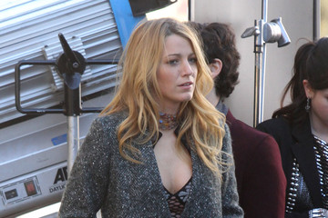 Blake Lively Chace Crawford 'Gossip Girl' Films Scenes In NYC