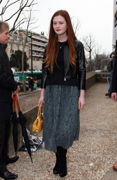 Bonnie Wright - Celebs Attend the Miu Miu Fashion Show in Paris