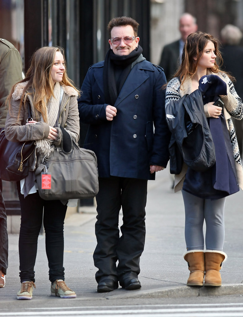 Jordan Hewson in Bono And His Daughters Out For A Walk In ...