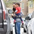 Bowie Perego-Saldana Zoe Saldana Out And About In Studio City