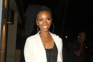 Brandy Brandy Norwood Enjoys a Night Out