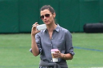 Bridget Moynahan Bridget Moynahan, Naomi Watts & Liev Schreiber Watch Their Sons Play Soccer