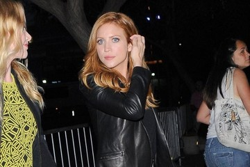 Brittany Snow Celebs Attend Justin Timberlake's Concert