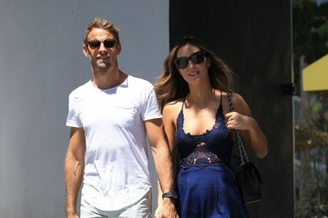 Brittny Ward Jenson Button and Brittny Ward Go Out and About in Beverly Hills