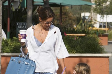 Brooke Burke Shaya Charvet Brooke Burke And Kids Out Getting Coffee In Malibu