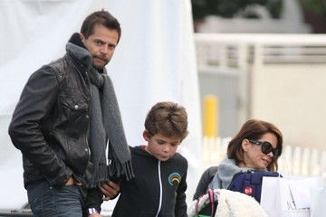Brooke Burke Shaya Charvet Rough Looking Brooke Burke & Family Stop By The Santa Monica Skating Rink