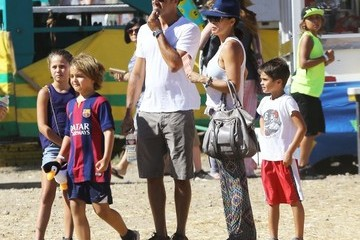 Brooke Burke Shaya Charvet Brooke Burke Takes Her Kids to the Fair in Malibu