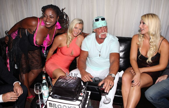 Brooke Hogan Brooke Hogan, Hulk Hogan, Jennifer McDaniels, Katrina Campins and Ines Rivero attending the portrait unveiling at Women In Cages Exhibit to benefit PETA at Cafeina Lounge in Miami, FL. The event also was hosting Hulk's 58th birthday today.