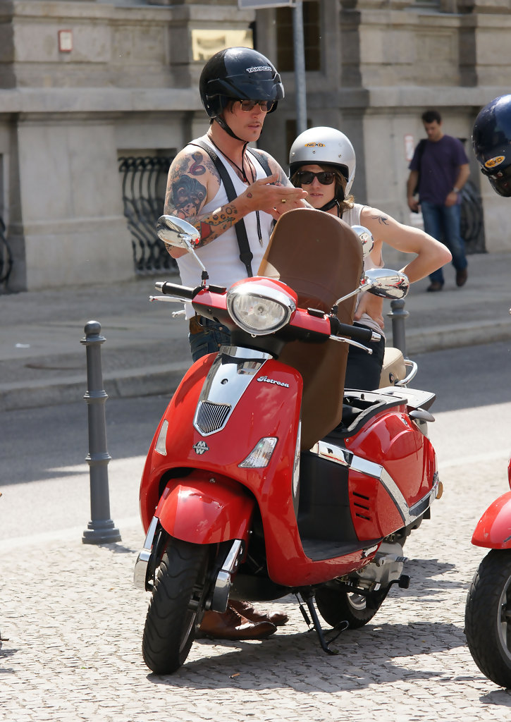 butch walker riding a scooter in berlin zimbio. Black Bedroom Furniture Sets. Home Design Ideas
