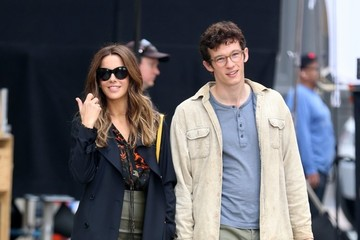 Callum Turner Kate Beckinsale on the Set of 'The Only Living Boy in New York'