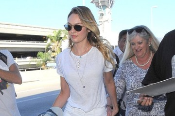 Candice Swanepoel Candice Swanepoel Lands At LAX Airport