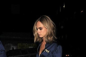 Cara Delevingne Sisters Cara and Poppy Delevigne Are Spotted Arriving at Their Hotel in London