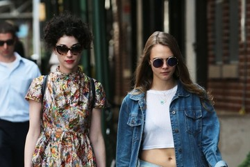 Cara Delevingne Annie Clark and Cara Delevingne Go for a Stroll in NYC