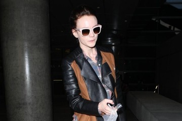 Carey Mulligan Carey Mulligan Arriving On A Flight At LAX