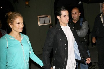 Casper Smart Jennifer Lopez and Casper Smart Get Dinner