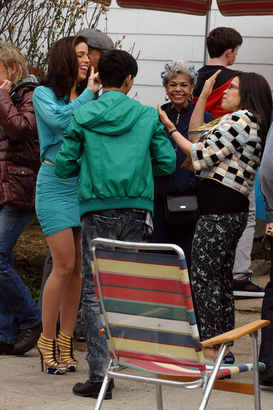 ugly betty cast pictures. Cast Of quot;Ugly Bettyquot; On Set Of