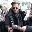 Chris Pine combed his hair very nicely.