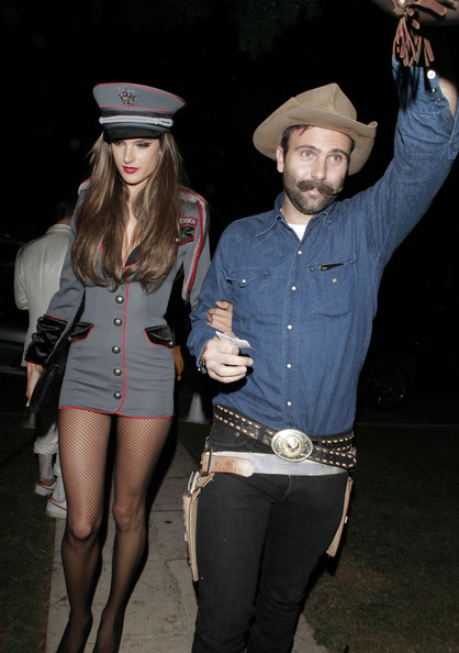 Celebrities Attending A Halloween Party In Beverly Hills