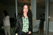 Celebrities enjoy a night out at trendy Madeo Restaurant on March 3, 2013 in West Hollywood, California.