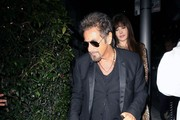 Celebrities dine out at Mr Chow Restaurant on October 30, 2014 in Beverly Hills, California.