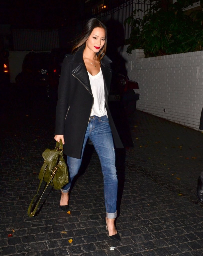 Celebrities are spotted leaving the Chateau Marmont after enjoying an evening out on December 6, 2012 in West Hollywood, California.