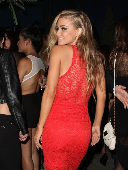 Celebrities enjoy a night out at Hooray Harry's in West Hollywood, California on August 14, 2013.<br /> Pictured: Carmen Electra