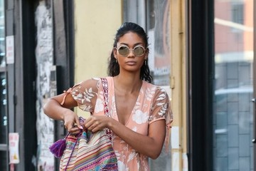 Chanel Iman Chanel Iman Goes For A Stroll In NYC