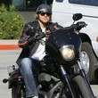 Charlie Hunnam Rides Off The Set Of 'Sons Of Anarchy'