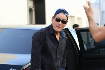 Charlie Sheen Charlie Sheen Lunches in Beverly Hills
