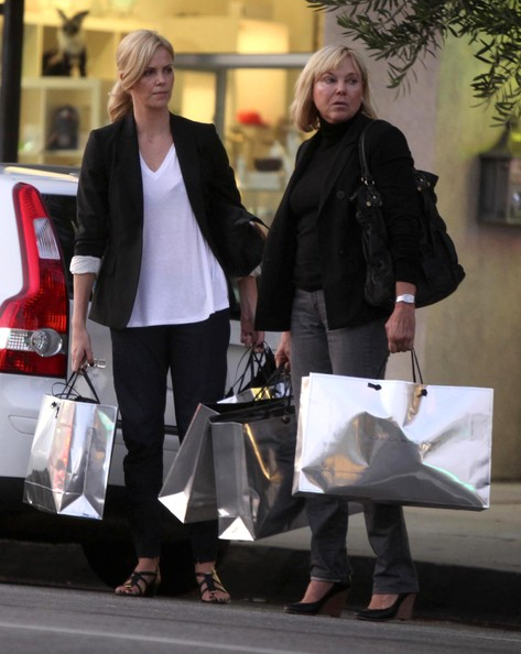 Charlize Theron Stars and Their Moms