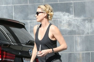 Charlize Theron Charlize Theron Out with Her Son