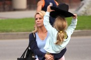 Actress Cheryl Hines and her daughter Catherine Rose Young out getting some groceries at Whole Foods in Brentwood, CA.