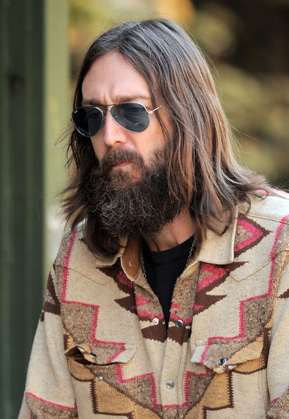 Chris Robinson And Family Out In The West Village