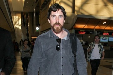 Christian Bale Christian Bale Departs from LAX