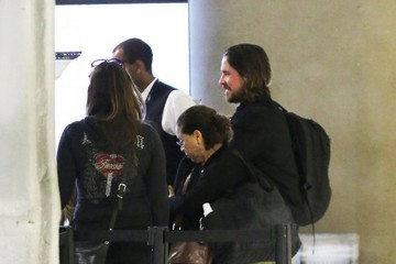 Christian Bale Christian Bale & Family Catch A Flight At LAX