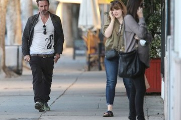 Christina McLarty David Arquette and Christina McLarty Out in Hollywood