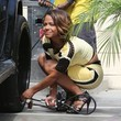 Christina Milian Makes Car Chores Fashionable