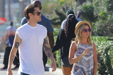 Christopher French Ashley Tisdale and Christopher French in Santa Monica