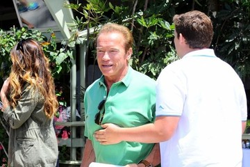 Christopher Schwarzenegger Arnold Schwarzenegger Out For Father's Day Brunch